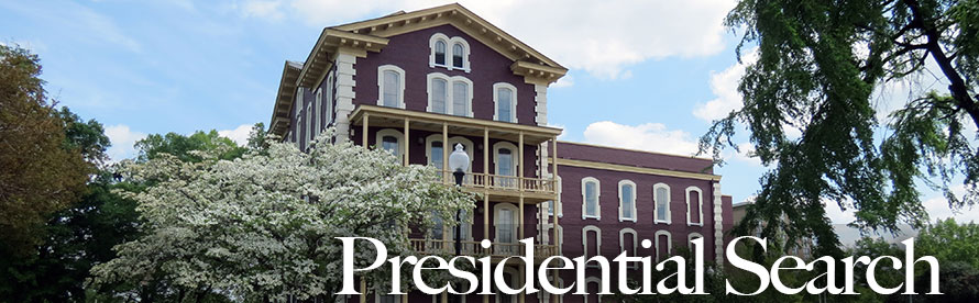 Estey Hall Presidential Search Banner