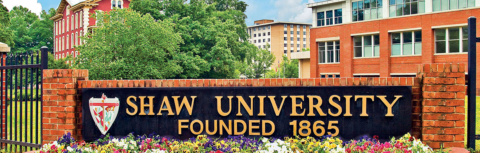 Shaw University Entrance Sign