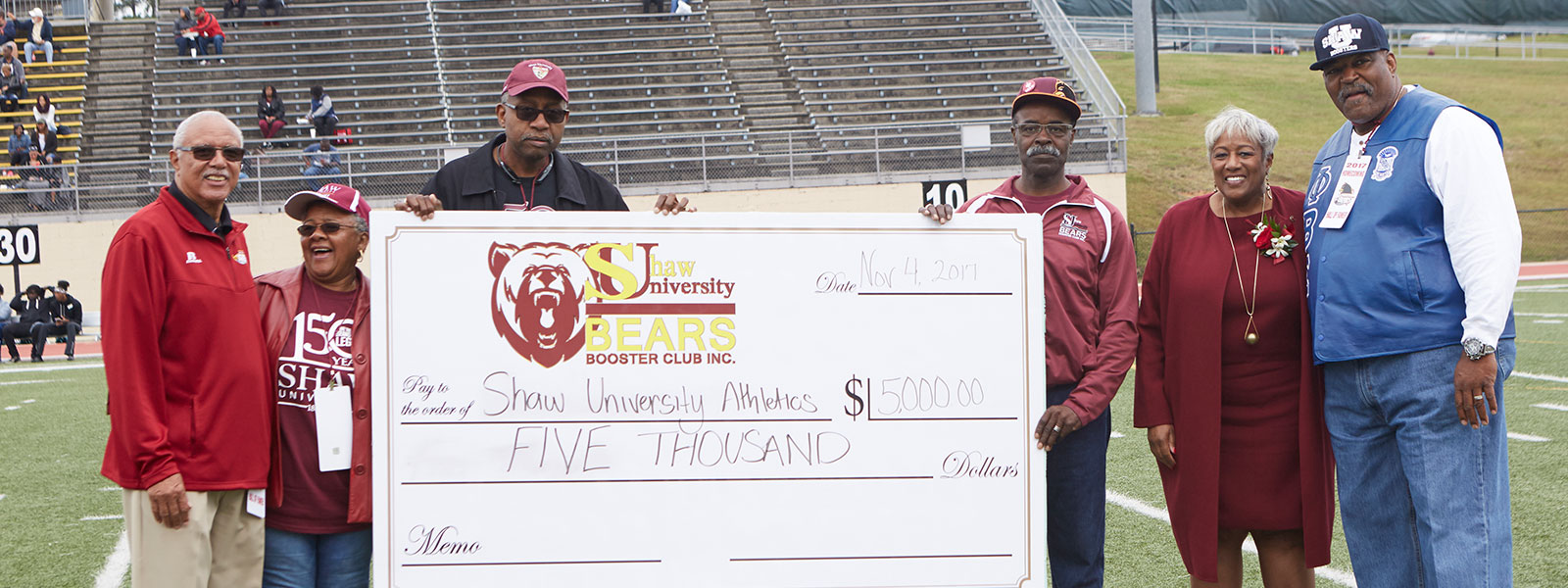 Booster Club check presentation