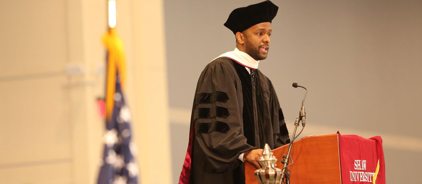 Bakari Sellars Addresses Commencement