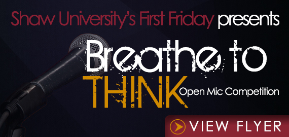 Breathe to Think Open Mic Competition