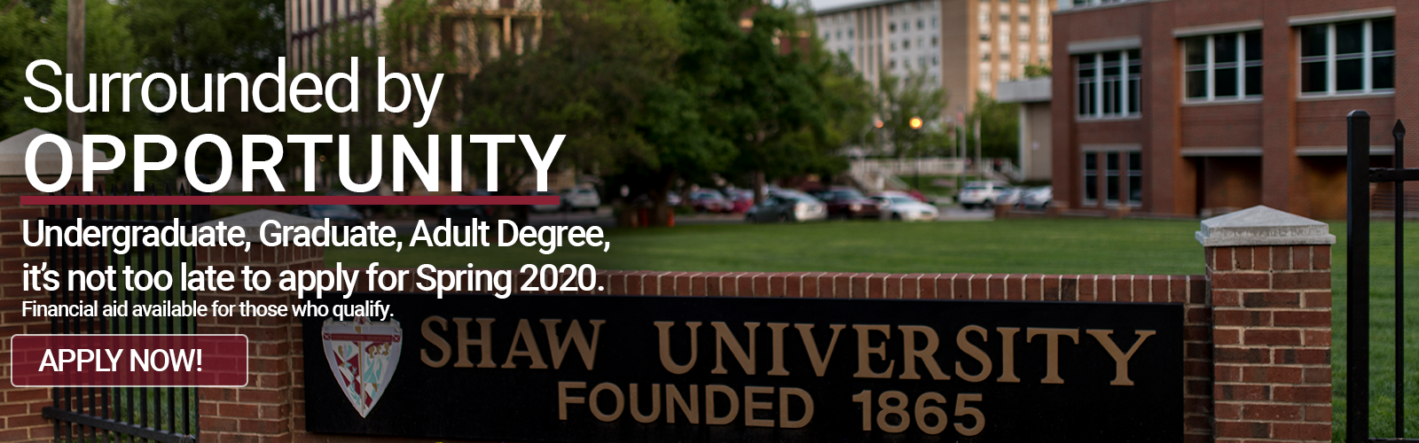 Apply to Shaw University