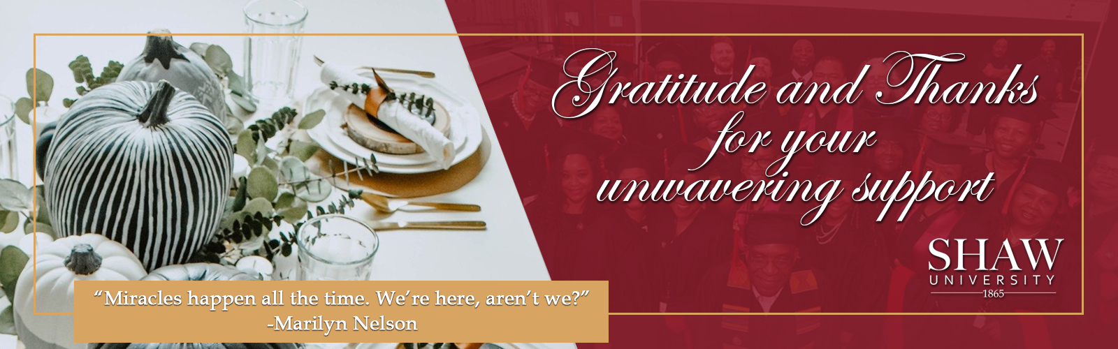 Happy Thanksgiving from Shaw University