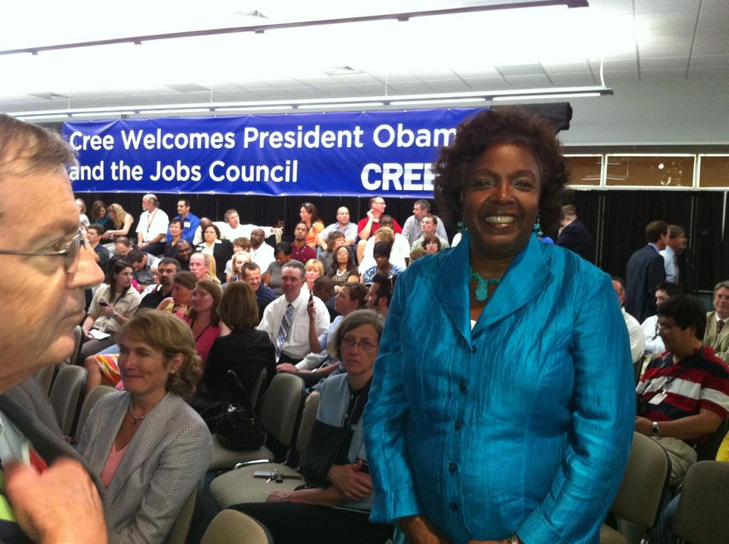Dr. McClaurin Meets with President Obama