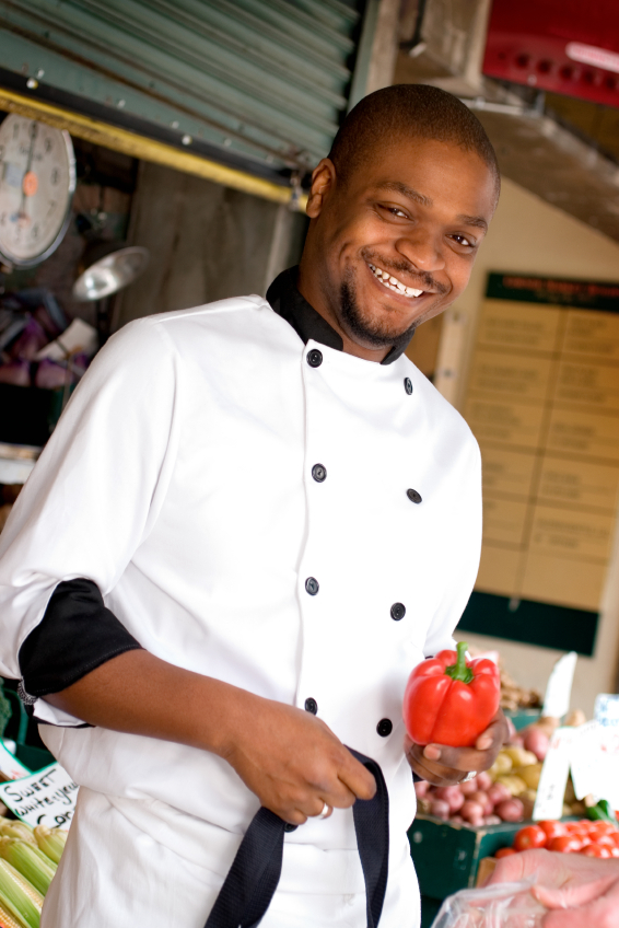 Black male chef